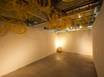 Phil Magee - Found Object, 2013 (approx 1000 metres of fibre optic sleeving rescued from a recycling yard)