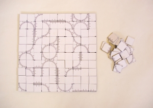 Elisa Juncosa Umaran - Kairos, 2012 40x40 cm board  materials variable, 1-4 players, 15 to 50 minutes depending on your rules.