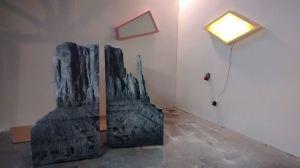 Stuart Robinson - Best Western, 2014, dimensions variable, wood, paint, polycarbonate, LEDs
